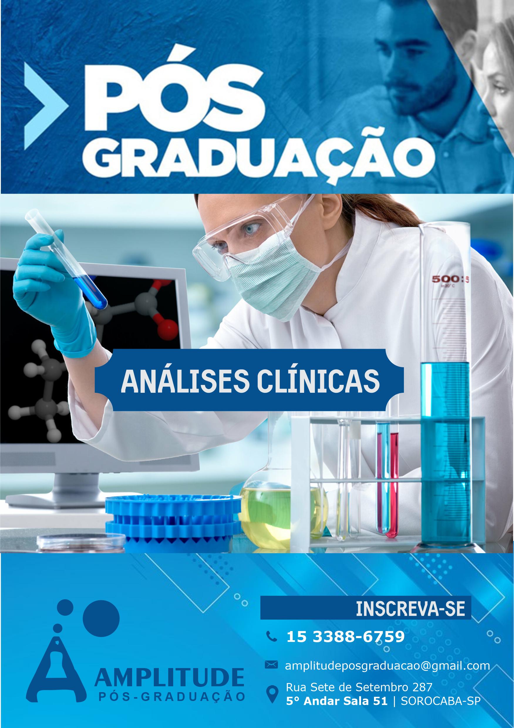 Folheto Curso Pós Graduação Análises Clínicas