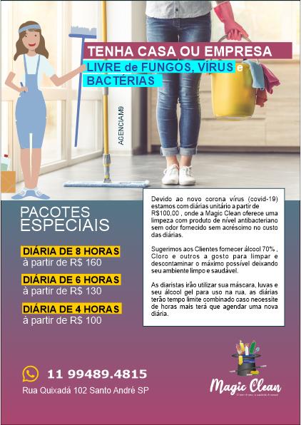 Folheto e Panfleto para Serviços de Limpeza de Profissionais de Limpeza