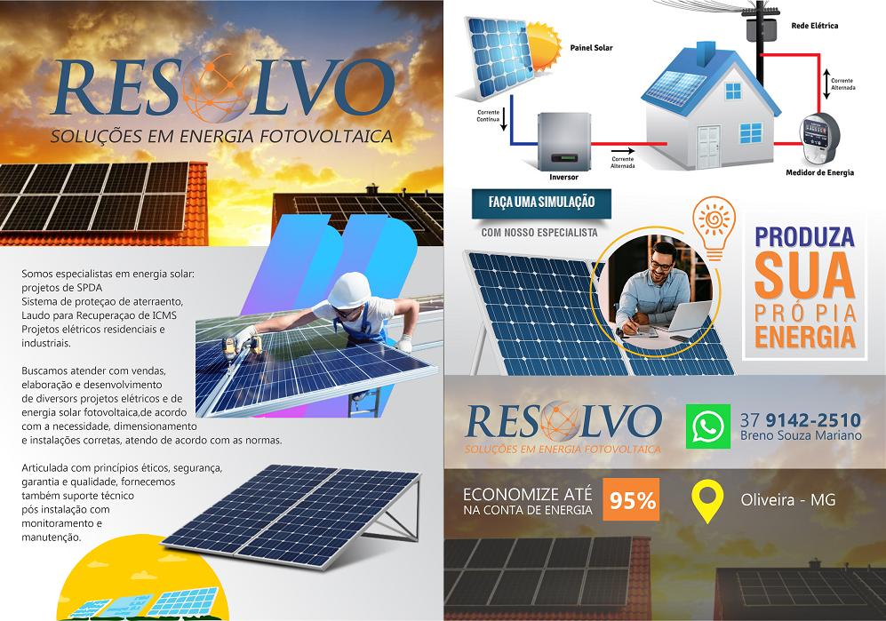 Layout Folheto Panfleto Energia Solar Energia Fotovoltaica