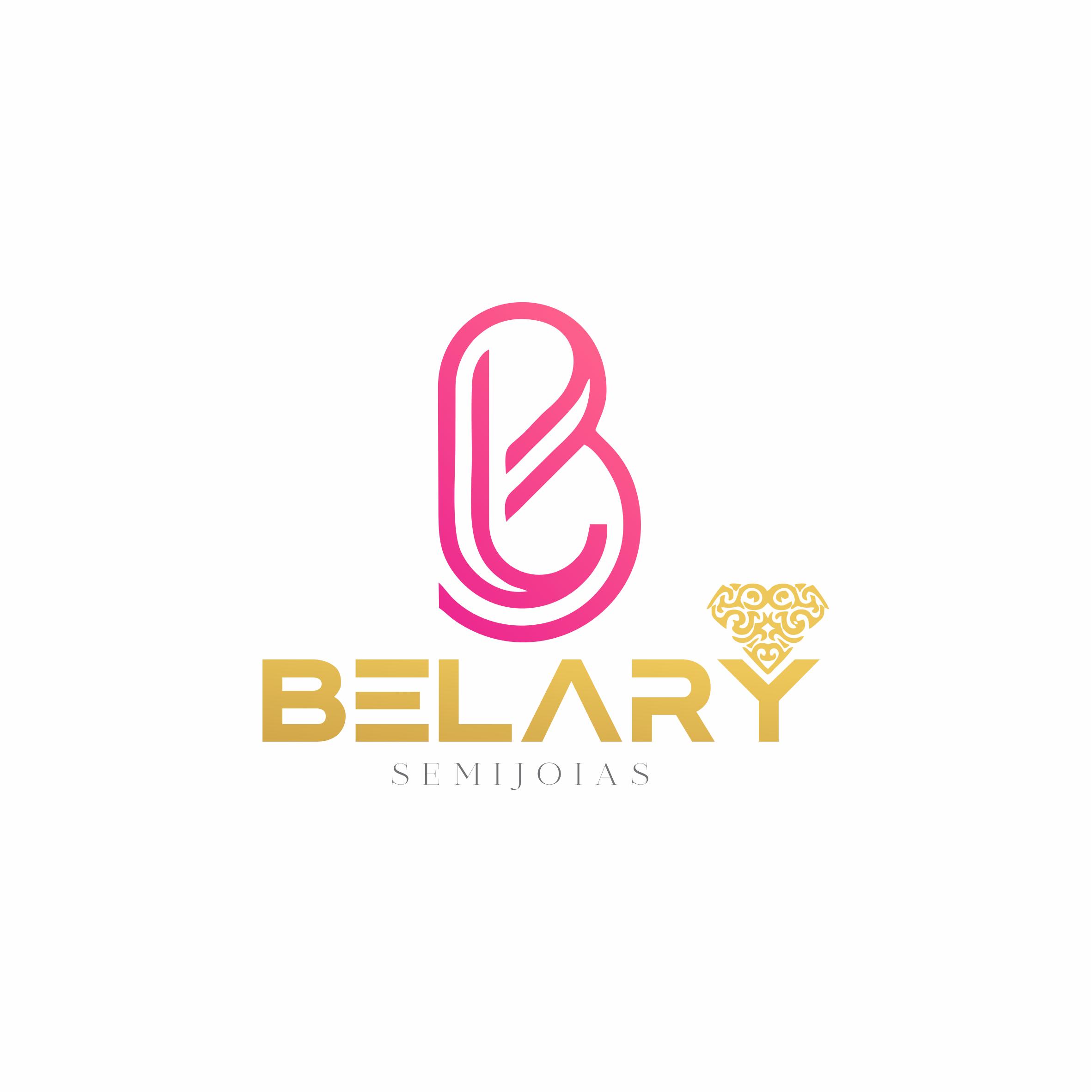 Logomarca Semijoias Rosa e Dourado