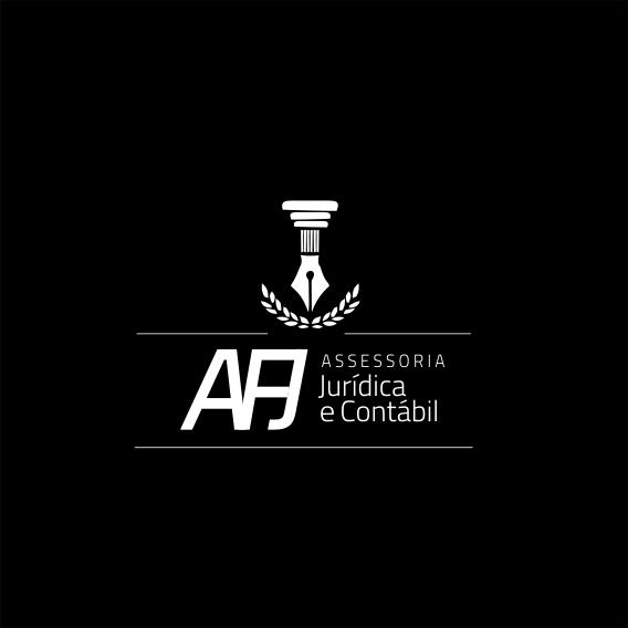 Logotipo Acessoria Jurísica Advocacia Advogado e Contabilidade Escritório Contábil