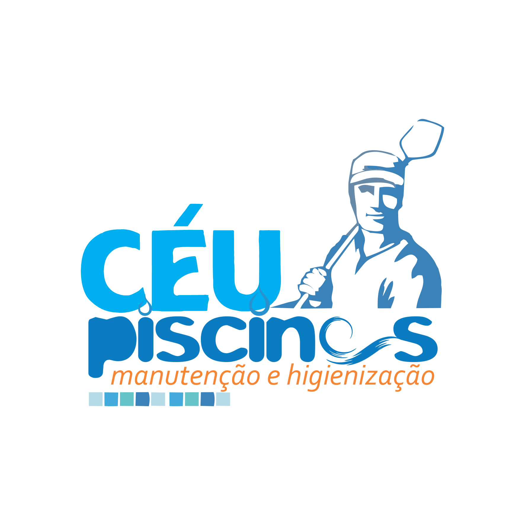 Logotipo Logomarca Higienização e Manutenção de Piscinas