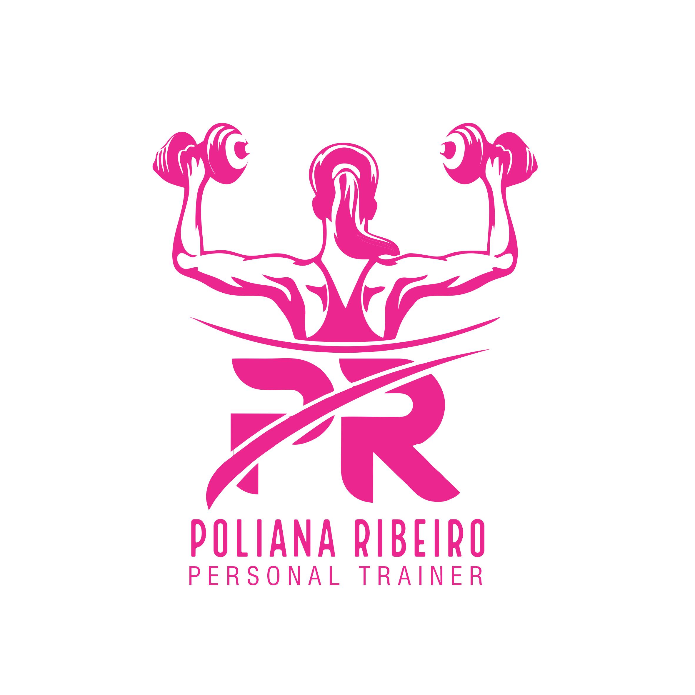 Logotipo Personal Trainer Feminina Academia