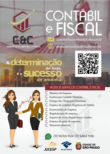 Panfleto Folheto Escritório Contábil e Fiscal