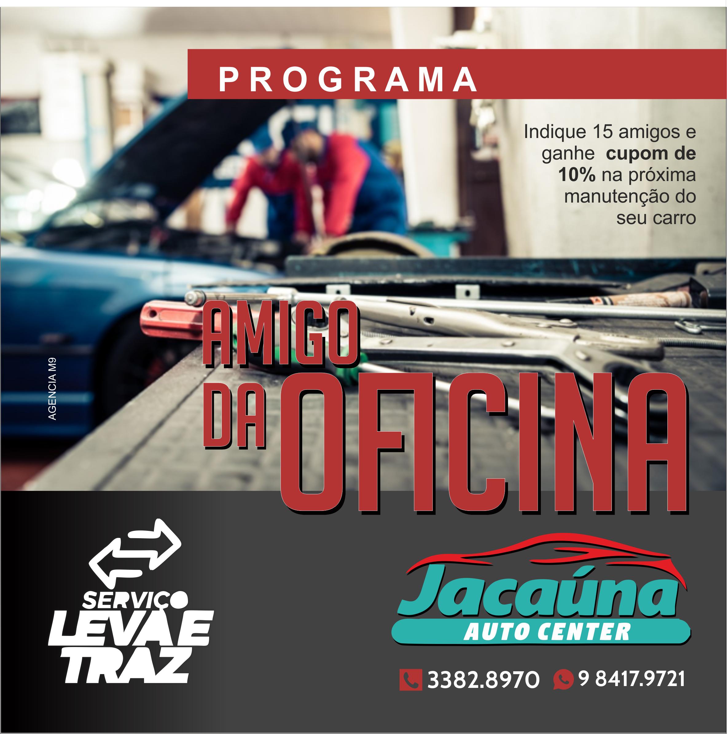 Programa Amigo da Oficina Promoção de Oficina Mecânica Propaganda