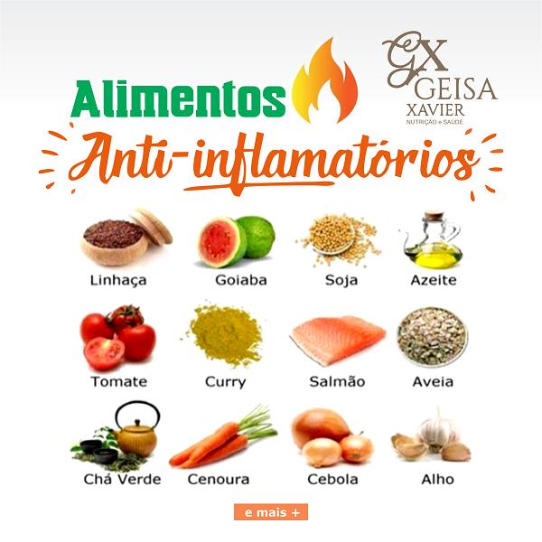 Propaganda Alimentos Anti-Inflamatórios