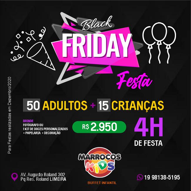 Propaganda Black Friday Buffet de Festa
