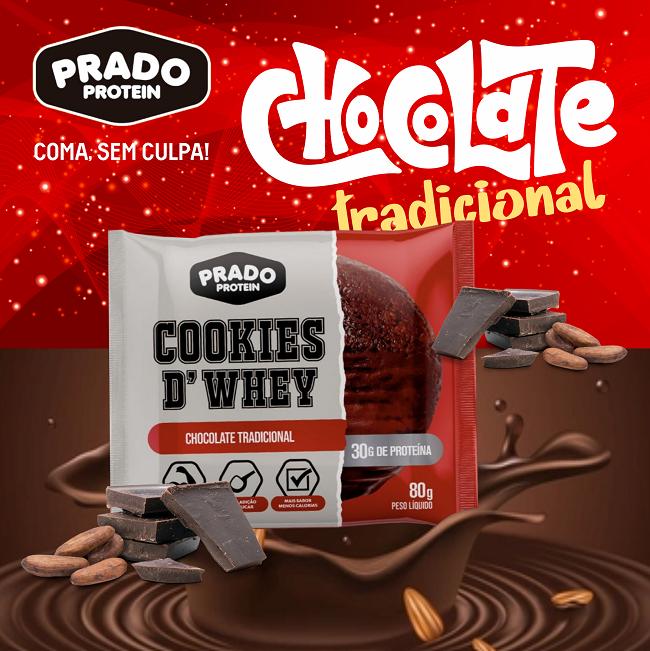 Propaganda Cookie de Whey sabor Chocolate Tradicional
