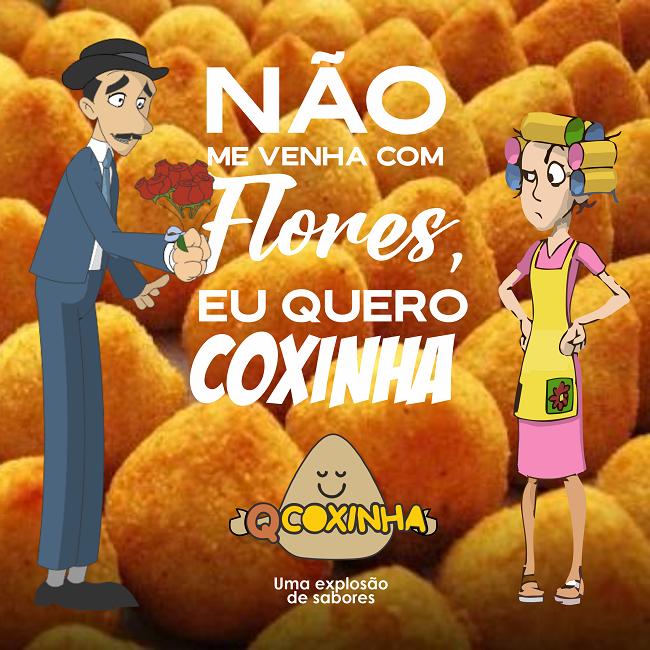 Propaganda Coxinha Meme com Professor Girafales e dona Florinda