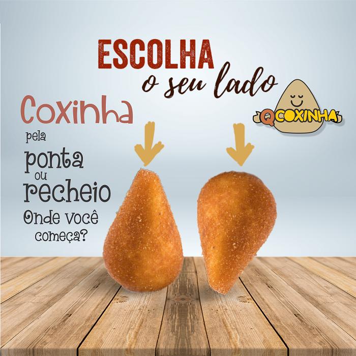 Propaganda para Rede Social sobre Coxinha