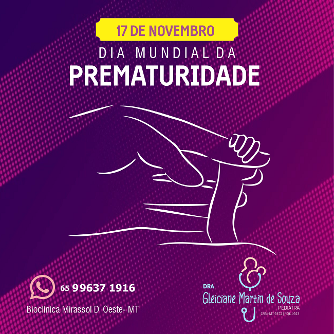 Propaganda Dia Mundial da Prematuridade