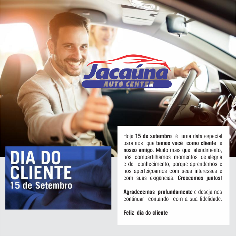 Propaganda Homenagem ao Dia do Cliente Centro Automotivo