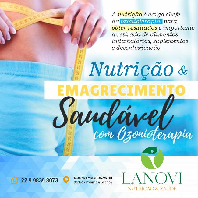 Propaganda Nutrição e Emagrecimento com Ozonioterapia