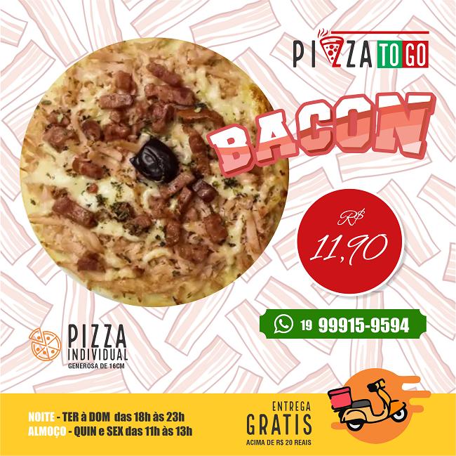 Propaganda Pizza Individual Mini Pizza de Bacon