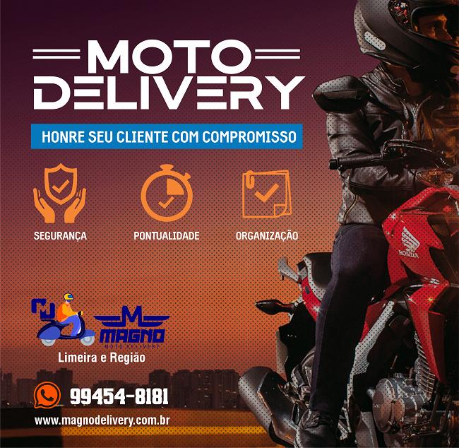 Propaganda Serviço de Moto Delivery Motoboy