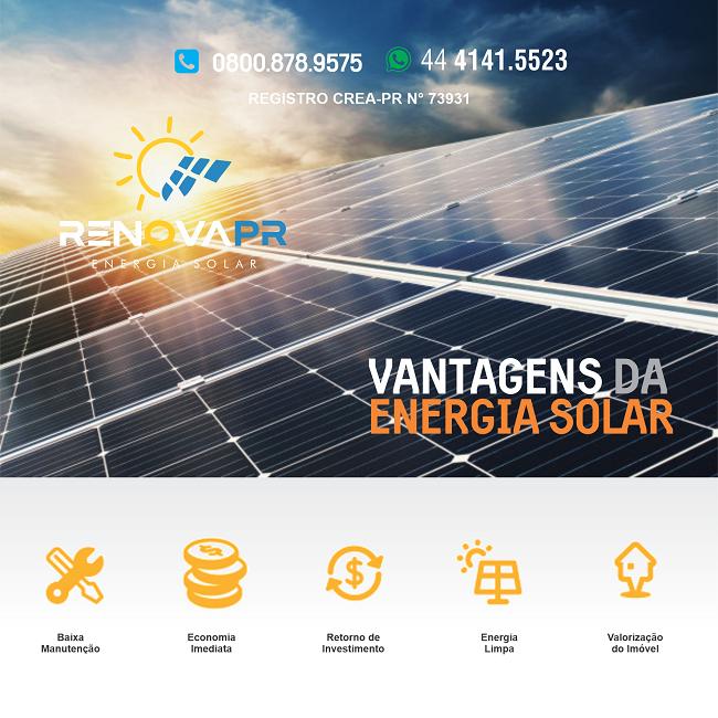 Propaganda Vantagens da Placa Solar
