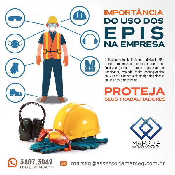 Propaganda para Empresa de Treinamento em Segurança sobre Importância do uso de EPIS