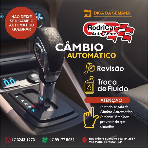Propaganda sobre Câmbio Automático para Centro Automotivo