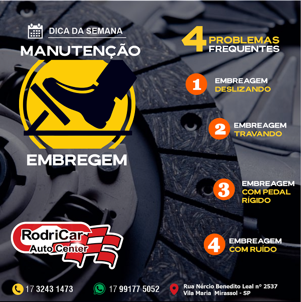 Propaganda sobre Manutenção de Embreagem para Centro Automotivo