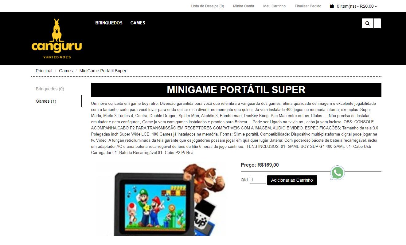 Site Loja Virtual para venda de Produtos Infantis