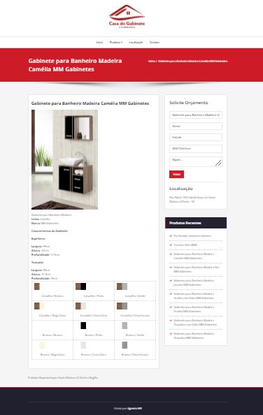 Site Loja de Gabinetes de Banheiro e Cozinha